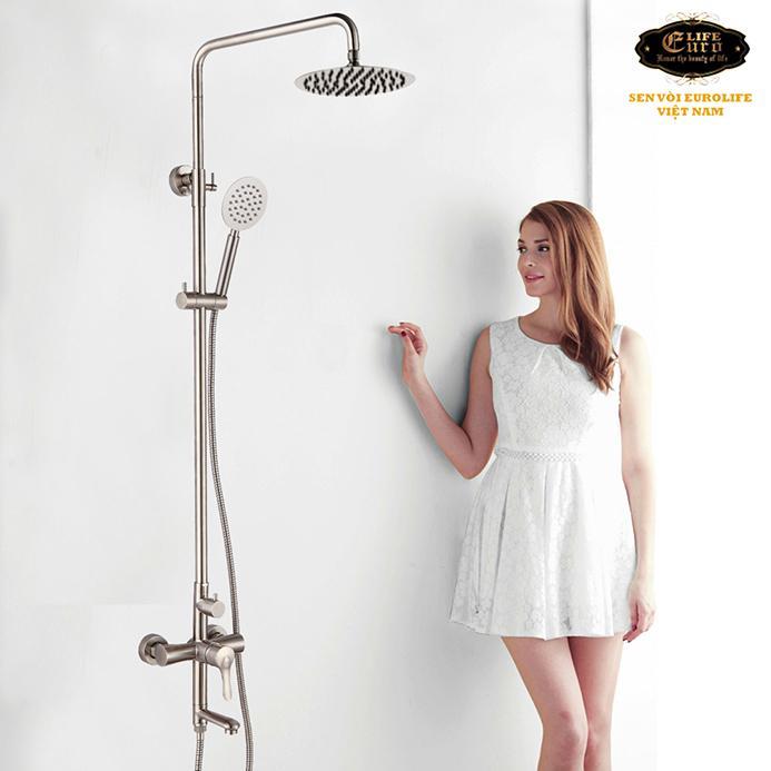 Bộ sen tắm đứng nóng lạnh Inox SUS 304 Eurolife EL-S917 (Trắng vàng)-21.jpg