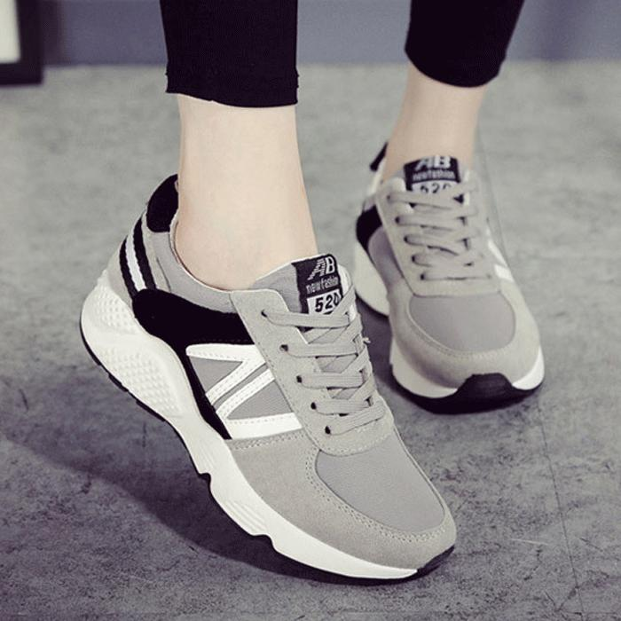Giày nữ sneaker Bomdo BGTT211 (Xám)