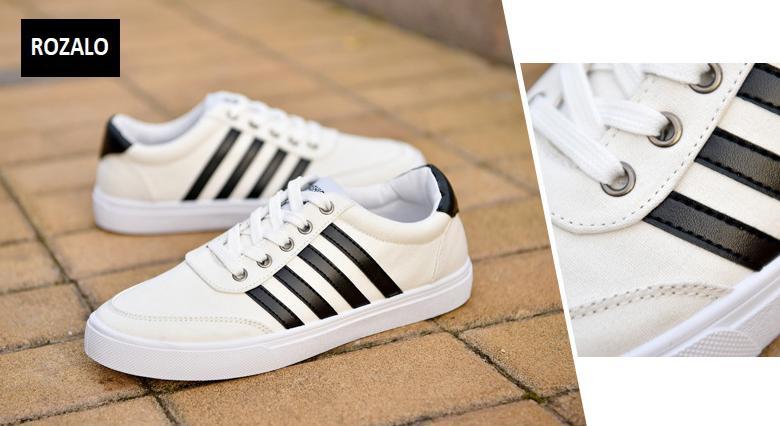Giày vải nam đế bằng thoáng khí Rozalo RM49628W-Trắng 2.png