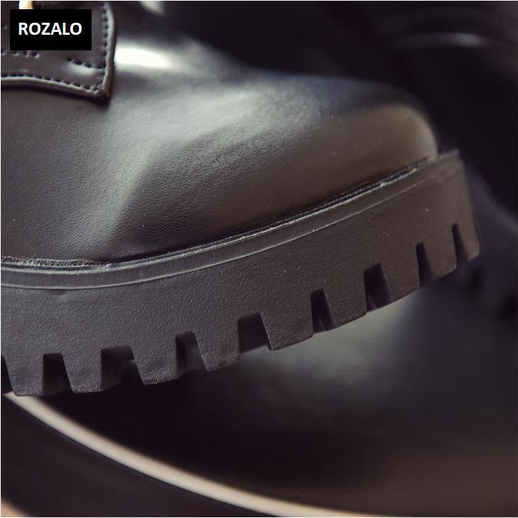 Giày boot nữ cổ cao đế vuông chống trượt Rozalo RW81130B-Đen10.png