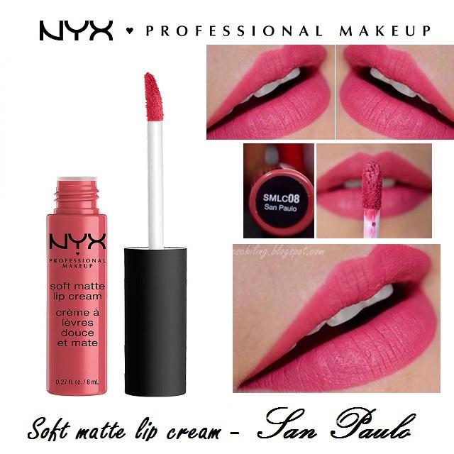 Son kem NYX Professional Makeup Soft Matte Lip Cream SMLC08 San Paulo