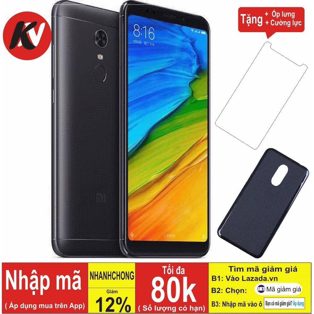 Xiaomi Redmi 5 Plus -32GB Ram 3GB ( Đen ) - Hàng nhập khẩu + Ốp lưng + Cường lực