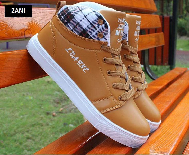 Giày cổ cao thời trang nam Zani ZM5822N-Nâu