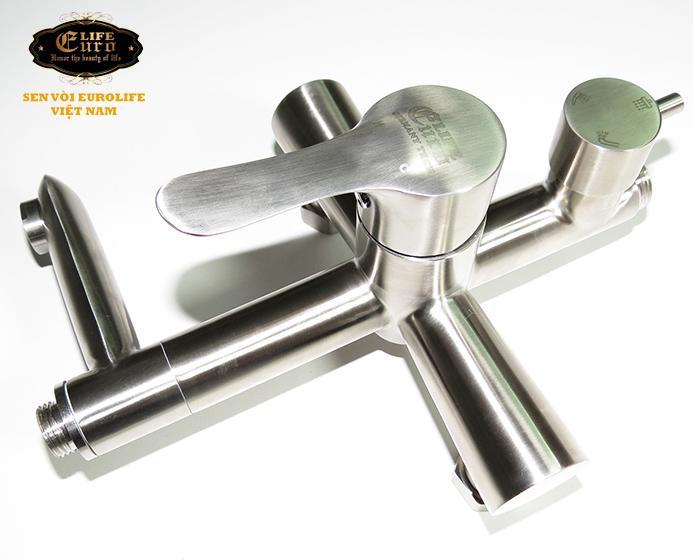 Bộ sen tắm đứng nóng lạnh Inox SUS 304 Eurolife EL-S917 (Trắng vàng)-3.jpg
