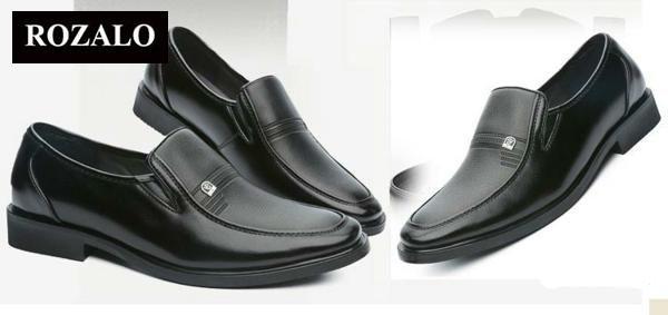 Giày tây da nam Rozalo RMG7012B-Đen