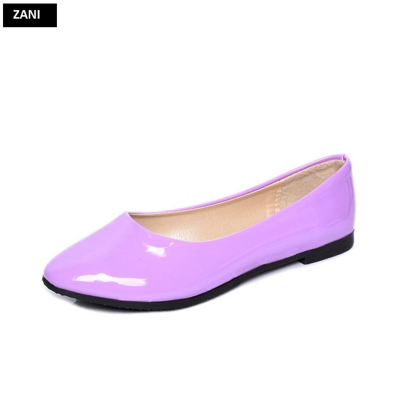 Giày búp bê đế bệt ZANI ZW85016V-Tím