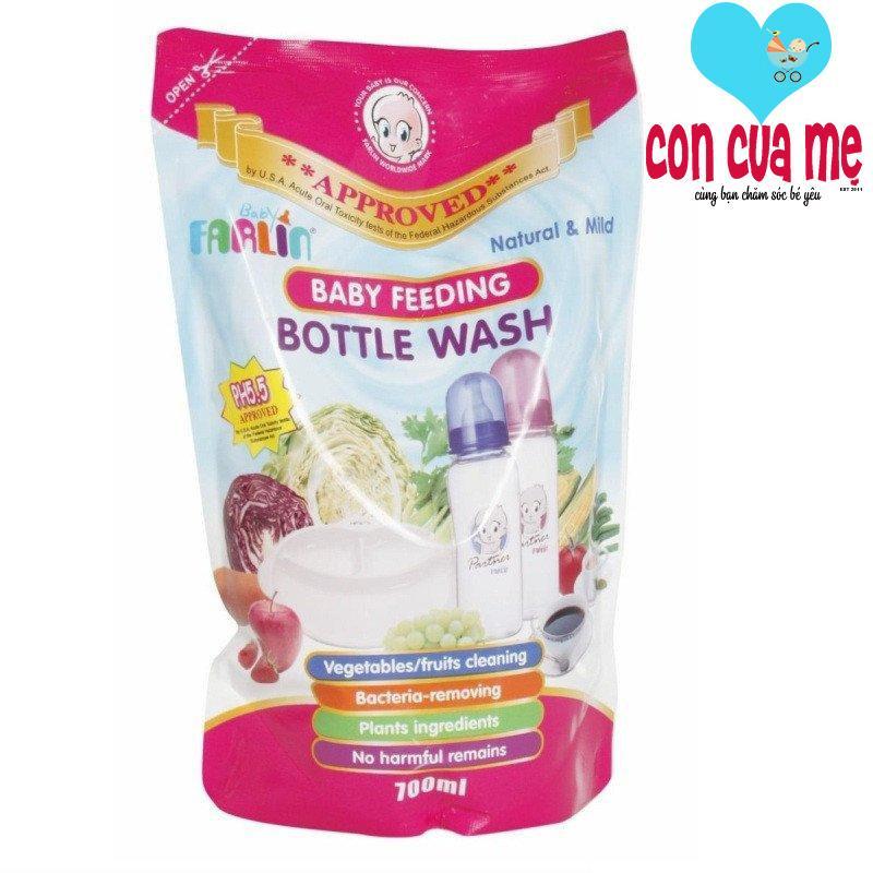 Túi nước rửa bình sữa và rau củ an toàn Farlin 700ml BF200A