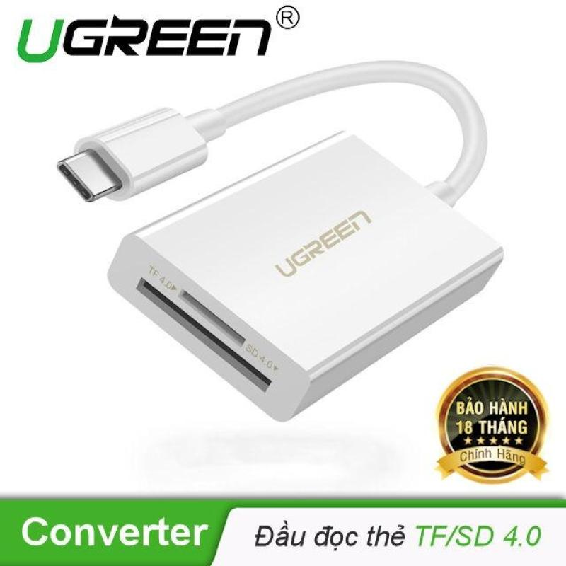 Bảng giá Đầu đọc thẻ USB Type-C cho thẻ nhớ TF/SD 4.0 UGREEN 40864 Phong Vũ