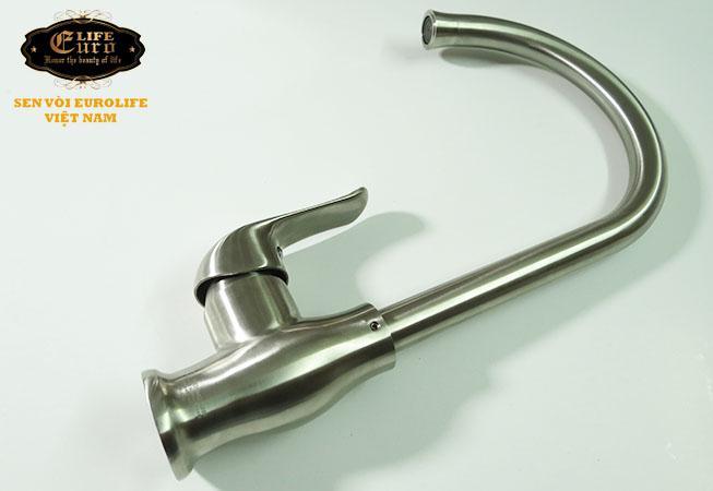 Vòi rửa chén nóng lạnh Inox SUS 304 Eurolife EL-T030 (Trắng vàng)-3.jpg