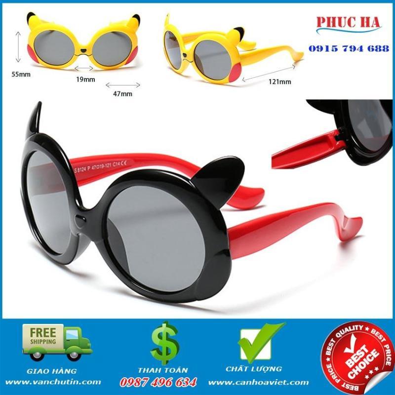 Mua Kính cho trẻ em, kính mát chống UV Đen Đỏ thời trang