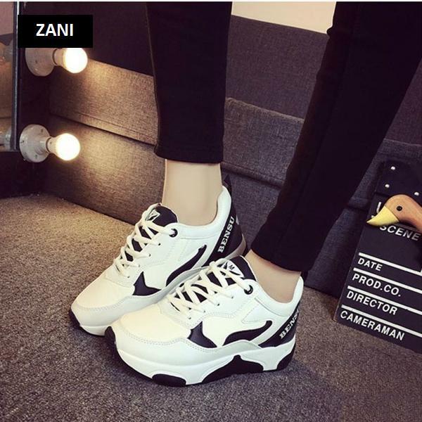 Giày thể thao nữ Zani ZWG9123HB-Trắng phối đen
