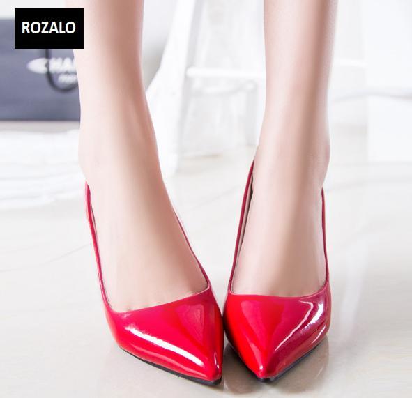 Giày cao gót nữ công sở 8cm Rozalo RW31897R-Đỏ