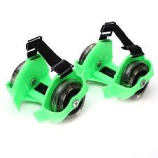 Bánh trượt patin 2 bánh phát sáng- Flashing Roller ( xanh lá cây)