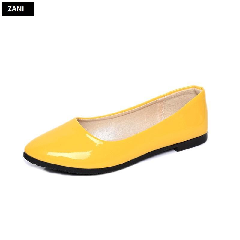 Giày búp bê đế bệt ZANI ZW85016Y-Vàng