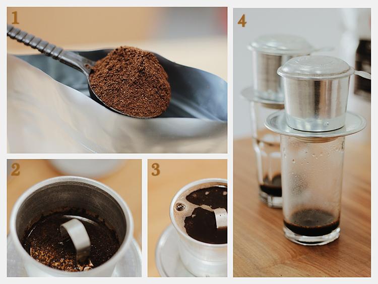 cà phê nguyên chất - cách pha phin - Light Coffee