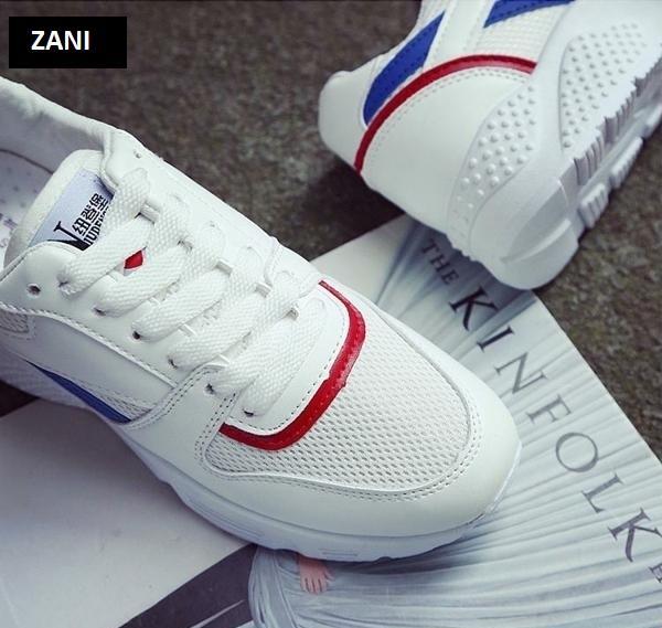 Giày sneaker thể thao nữ ZANI ZW3503WX-Trắng Xanh