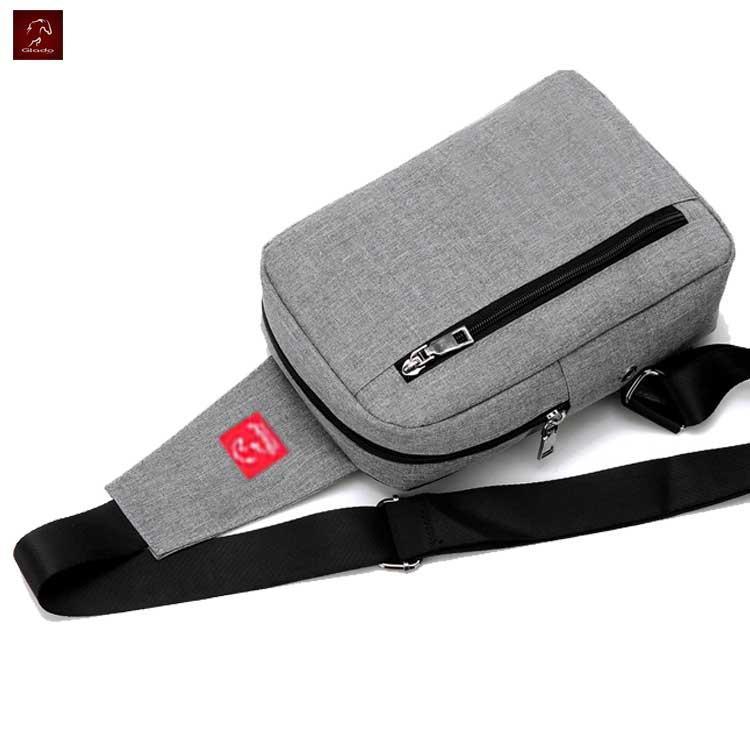 Combo Túi Messenger Thời Trang Glado DCG026GR + Giày Sneaker Nam Zapas GS080 (Xám) - CB120