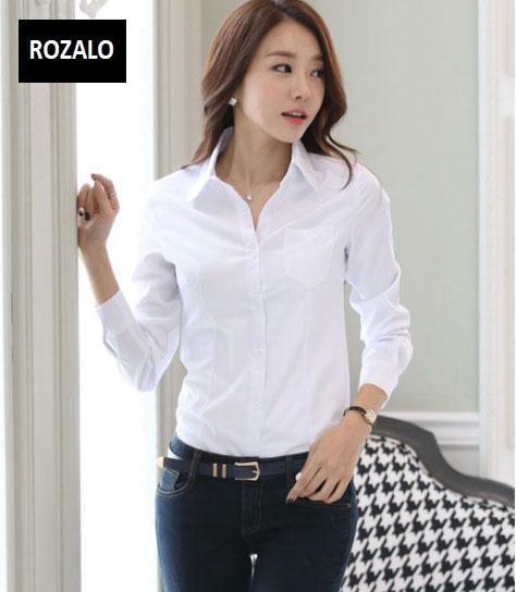 Áo sơ mi nữ dài tay thời trang công sở Rozalo RW3119W-Trắng3.jpg