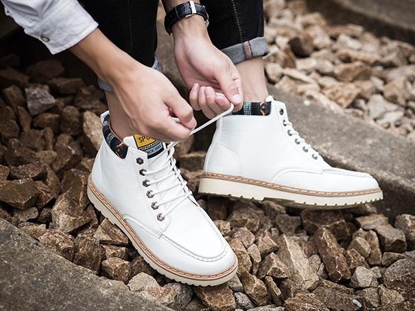 Giày nam cổ cao dã ngoại chống thấm đế bằng Rozalo RM58819W-Trắng3.jpg