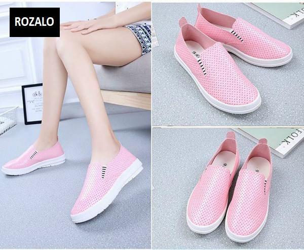 Giày lười nữ ROZALO RWG61512PW - Hồng 4.jpg