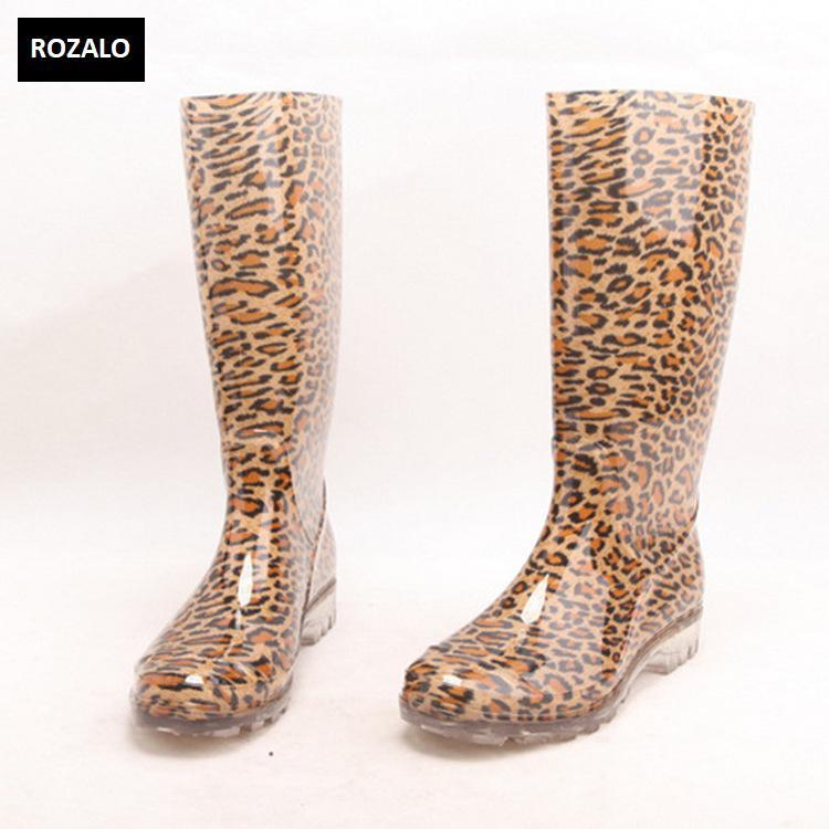 Ủng đi mưa nữ nhựa PVC đế chống trơn trượt Rozalo RW5868L1.jpg