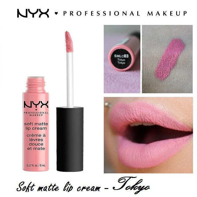 Son Kem NYX Professional Makeup Soft Matte Lip Cream Tokyo Smlc03 + Tặng 1 chì kẻ mắt đen siêu mảnh NYX Professional Makeup Slim Eyes Pencil Black