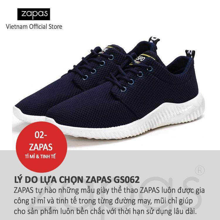 Giày Sneaker Thời Trang Nam Zapas – GS062 ( Xanh ) - Hãng Phân Phối Chính Thức