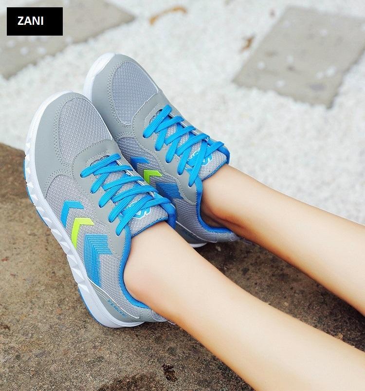Giày sneaker thời trang thể thao nữ ZANI ZN7029X-Xanh