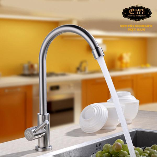 Vòi rửa chén lạnh Inox SUS 304 Eurolife EL-T017-8.jpg