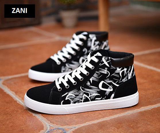 Giày cổ cao thời trang nam Zani ZM6509B-Đen