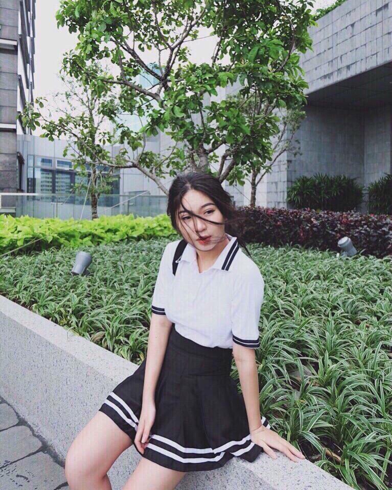 Váy Ngắn Xếp Ly Lưng Cao Hàn Quốc-BT Fashion VA025(Phối Viền-Hồng) - Ảnh 13