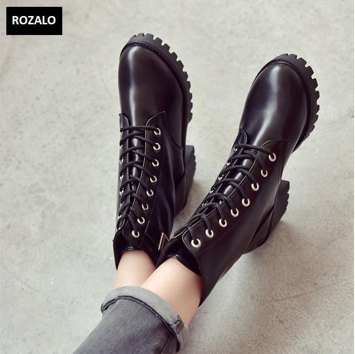 Giày boot nữ cổ cao đế vuông chống trượt Rozalo RW81130B-Đen4.png