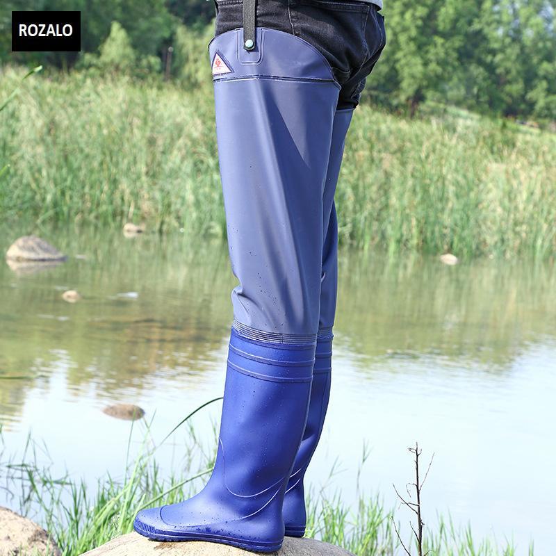 Ủng lội nước nửa người nam nữ có đai quần Rozalo RW8003B6.jpg