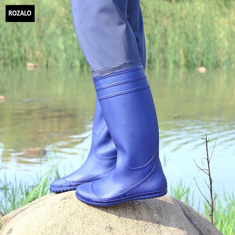 Ủng lội nước nửa người nam nữ có đai quần Rozalo RW8003B5.jpg