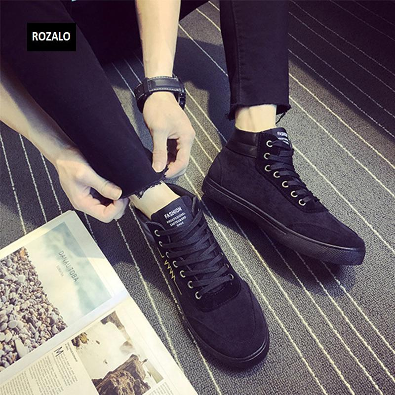 Giày vải casual nam cổ cao Rozalo RM55709 12.png