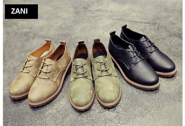 Giày boot nữ cổ thấp ZANI ZN7118B-Đen