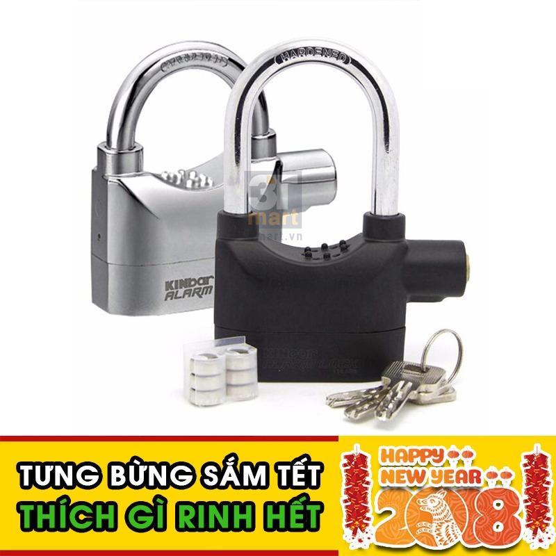 Bộ 2 khóa chống trộm thông minh Kinbar 109206 (Đen bạc)