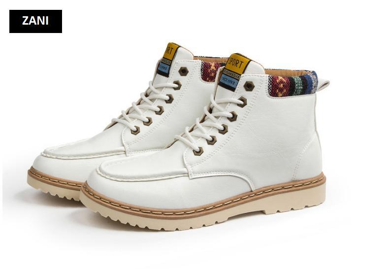 Giày nam cổ cao dã ngoại chống thấm đế bằng Rozalo RM58819B-Đen3.png