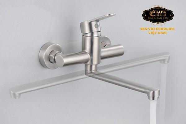 Vòi rửa chén nóng lạnh âm tường Inox SUS 304 Eurolife EL-1304-1.jpg