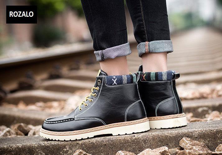 Giày nam cổ cao dã ngoại chống thấm đế bằng Rozalo RM58819B-Đen6.jpg