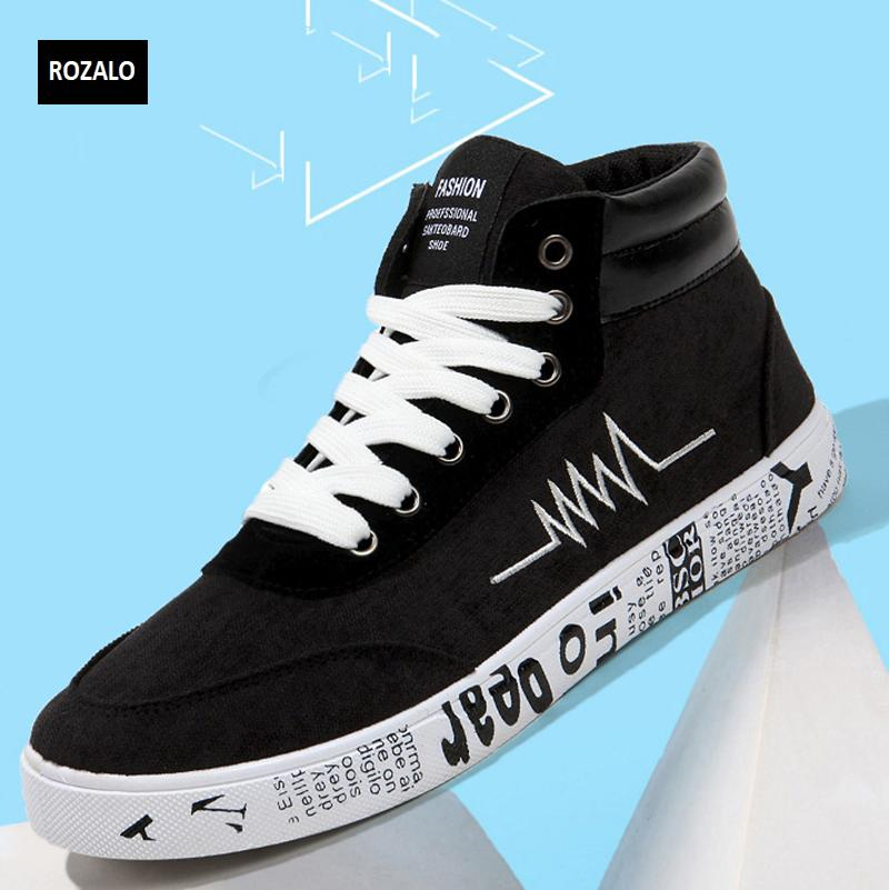 Giày vải casual nam cổ cao Rozalo RM55709 9.png