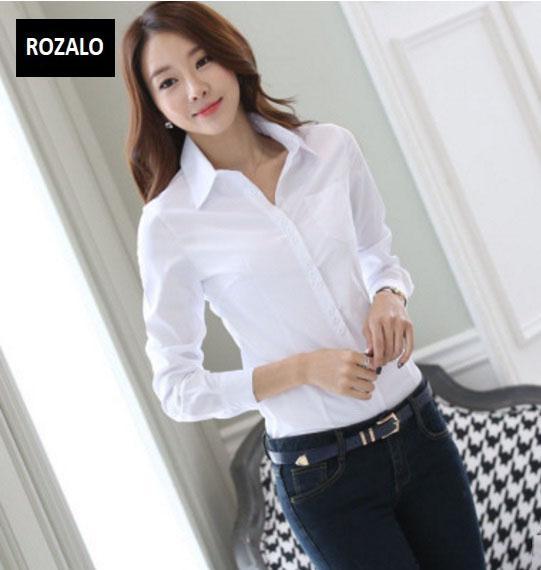 Áo sơ mi nữ dài tay thời trang công sở Rozalo RW3119W-Trắng8.jpg