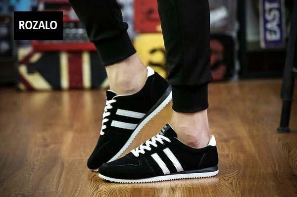 Giày casual thể thao nam Rozalo RMG3602BW-Đen Trắng7.jpg