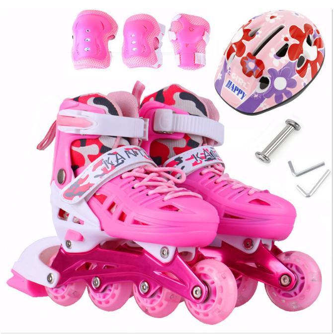 Giày trượt Patin trẻ em tặng mũ và đồ bảo hộ(5 đến 14 tuổi)