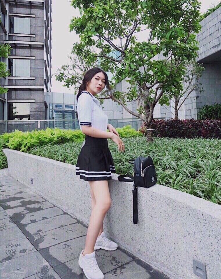 Váy Ngắn Xếp Ly Lưng Cao Hàn Quốc-BT Fashion VA025(Phối Viền-Hồng) - Ảnh 14