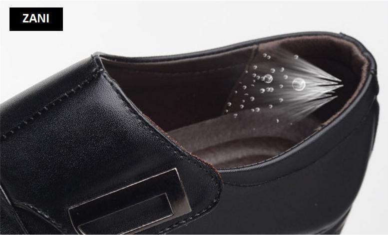 Giày tây nam công sở kiểu xỏ Zani ZM62001B-Đen