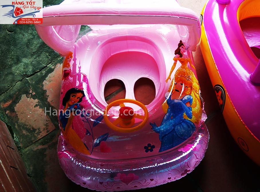 Phao bơi trẻ em hình ô tô có vô lăng in hình Công chúa Elsa