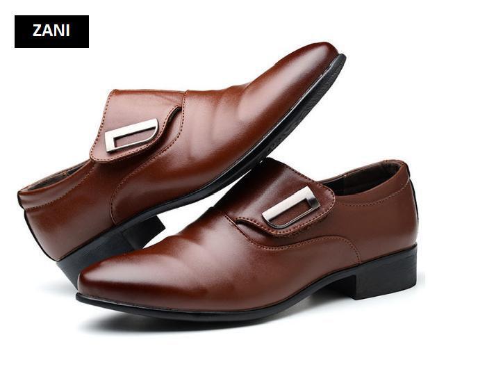 Giày tây nam công sở kiểu xỏ Zani ZM62001N-Nâu