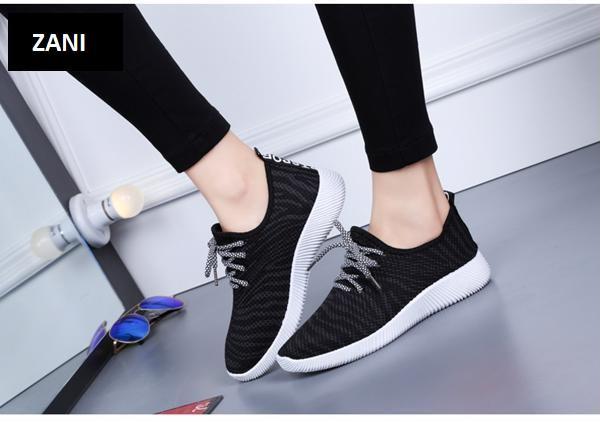 Giày Sneaker thể thao nữ ZANI ZN4207BW-Đen Trắng