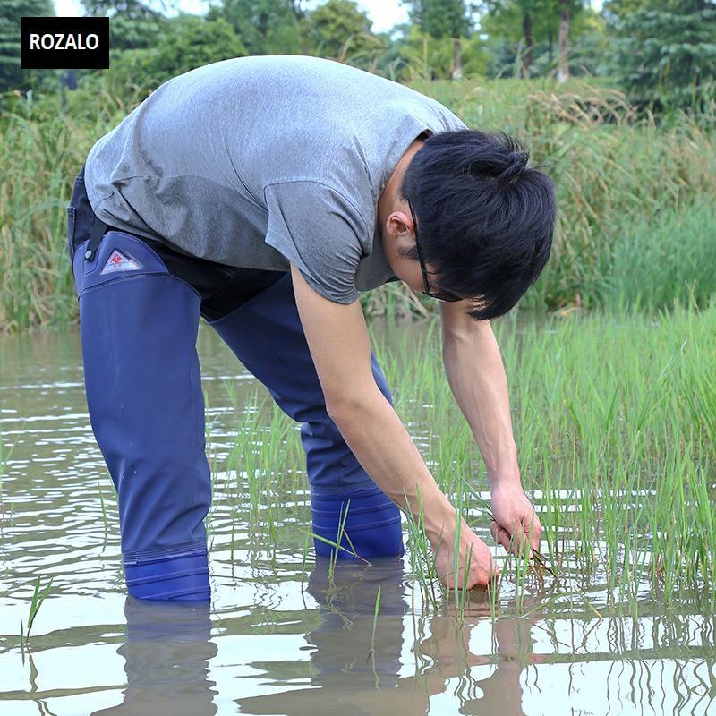 Ủng lội nước nửa người nam nữ có đai quần Rozalo RW8003B7.jpg